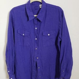 CHICO linen Long Sleeved Purple